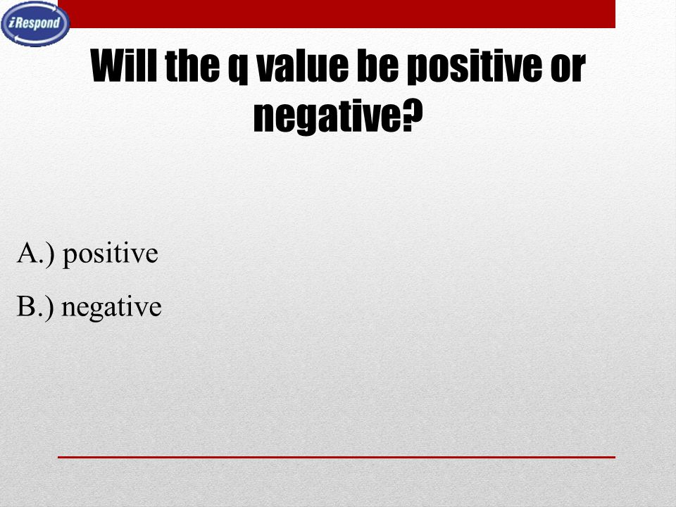 Will the q value be positive or negative