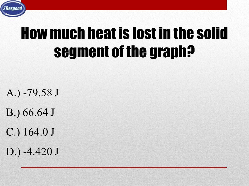 How much heat is lost in the solid segment of the graph