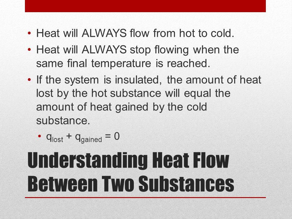 Understanding Heat Flow Between Two Substances