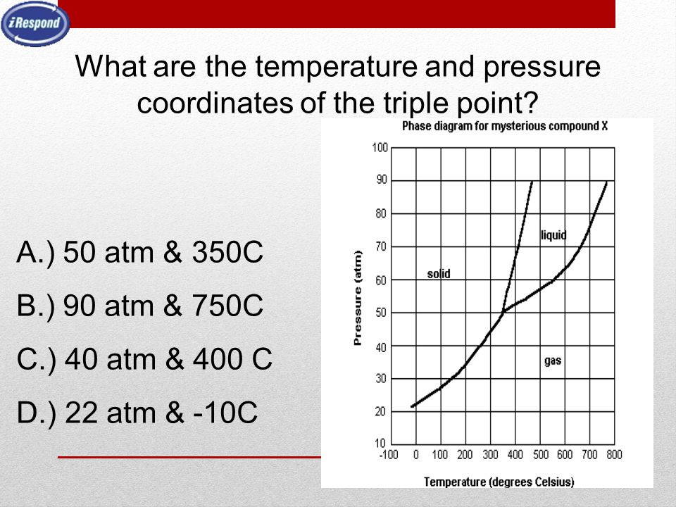 What are the temperature and pressure coordinates of the triple point