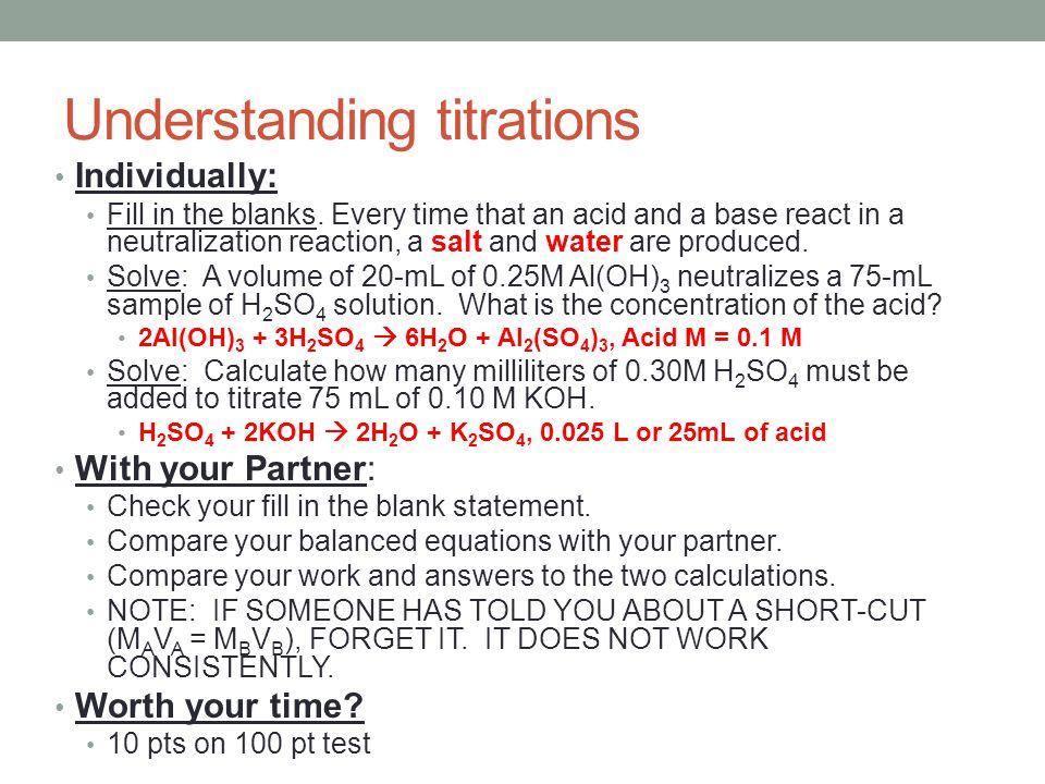 Understanding titrations