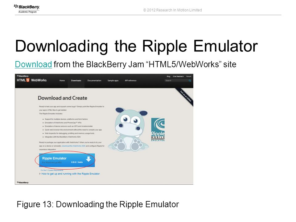 Downloading the Ripple Emulator