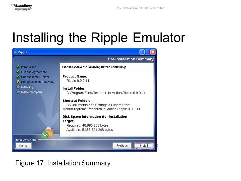 Installing the Ripple Emulator