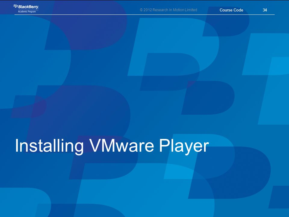 Installing VMware Player