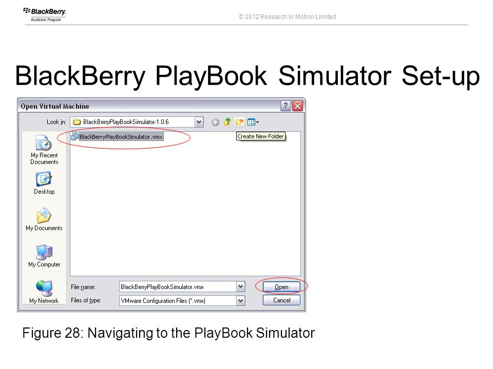 BlackBerry PlayBook Simulator Set-up