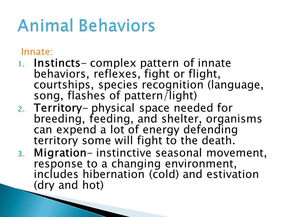 Animal Behaviors Innate: