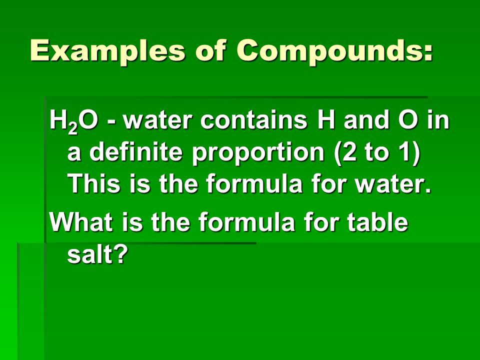 Examples of Compounds:
