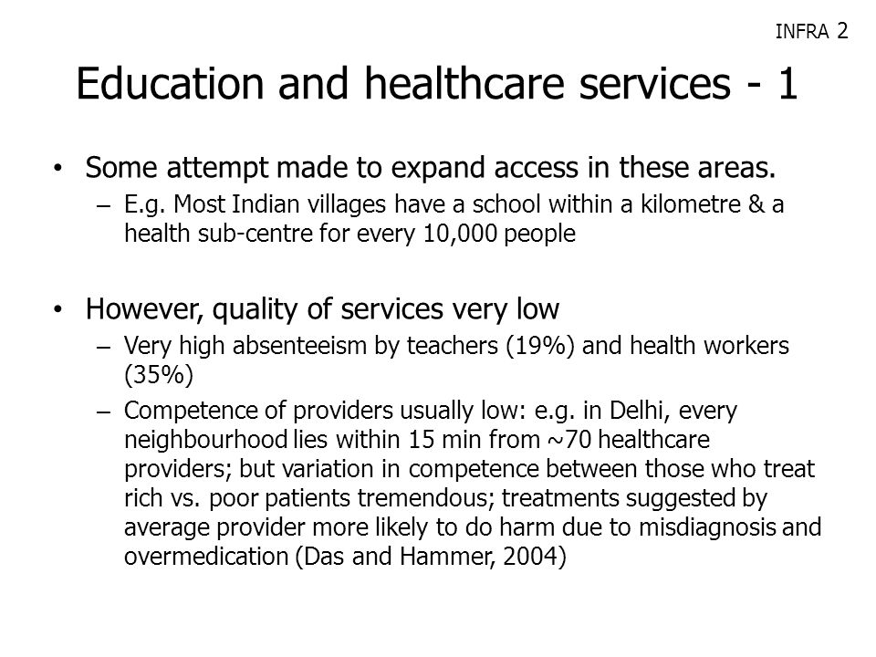 Education and healthcare services - 1