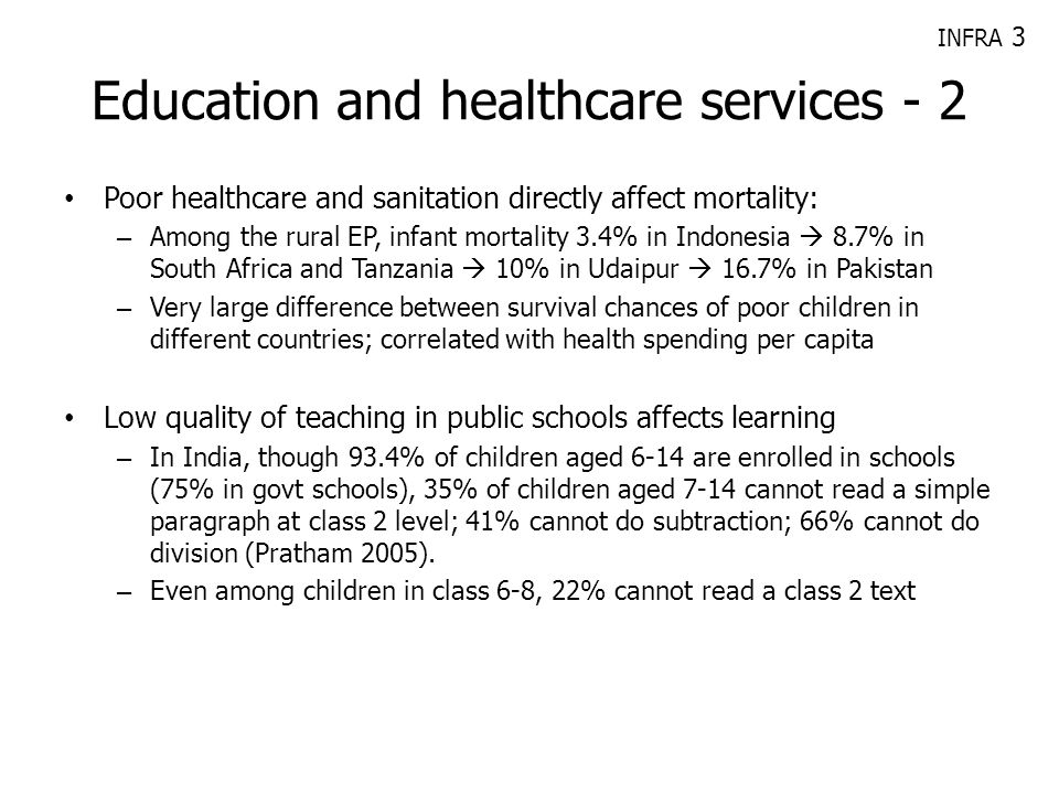 Education and healthcare services - 2