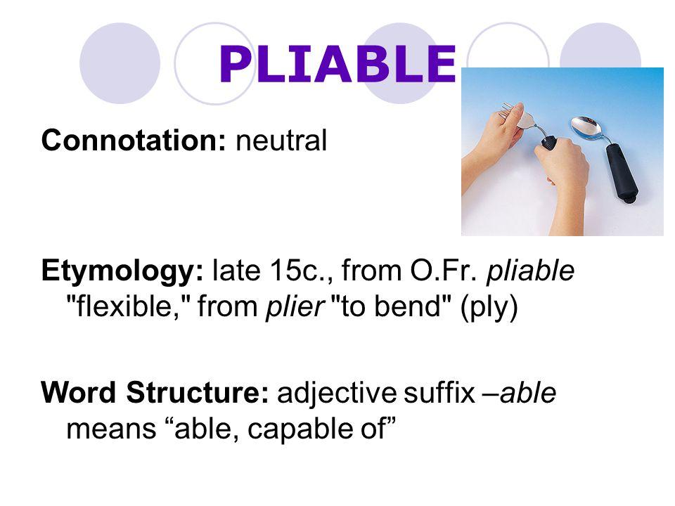 PLIABLE Connotation: neutral