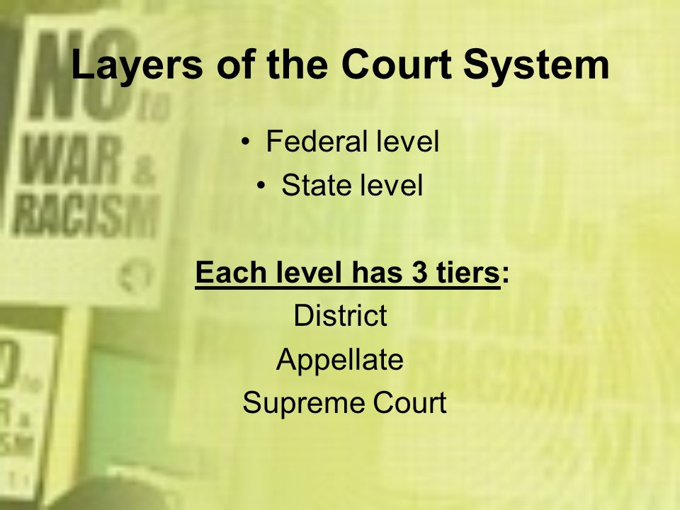 Layers of the Court System
