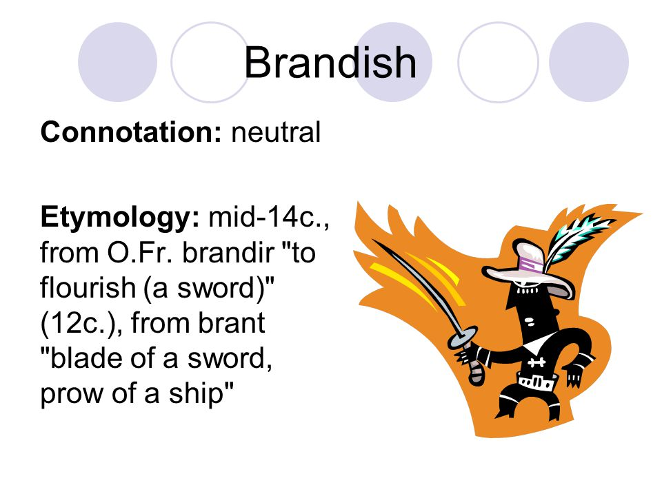 Brandish Connotation: neutral