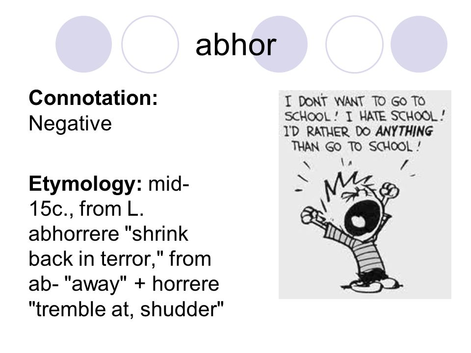 abhor Connotation: Negative