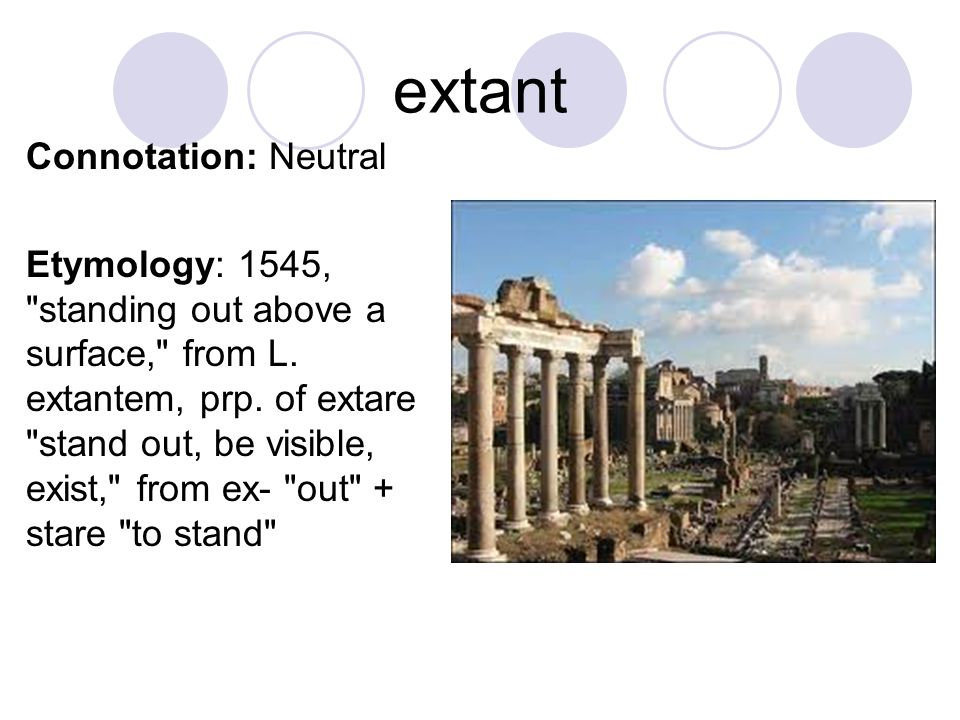 extant Connotation: Neutral