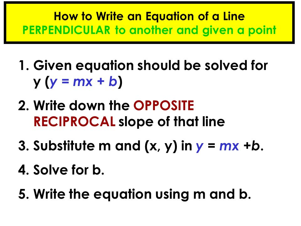 1. Given equation should be solved for y (y = mx + b)