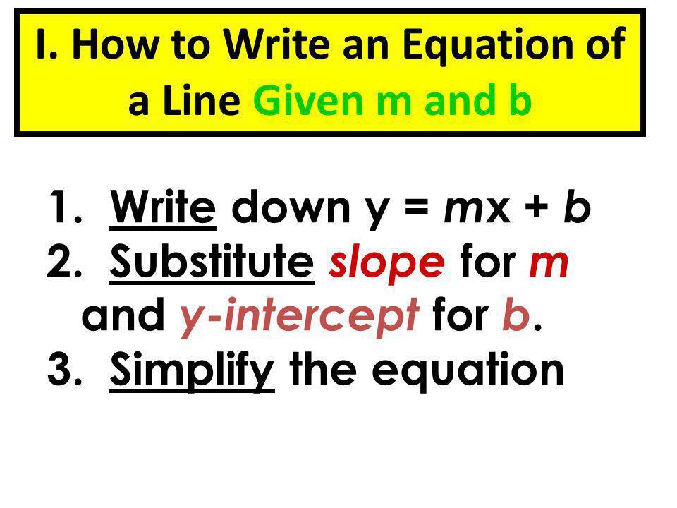 write an equation of a line