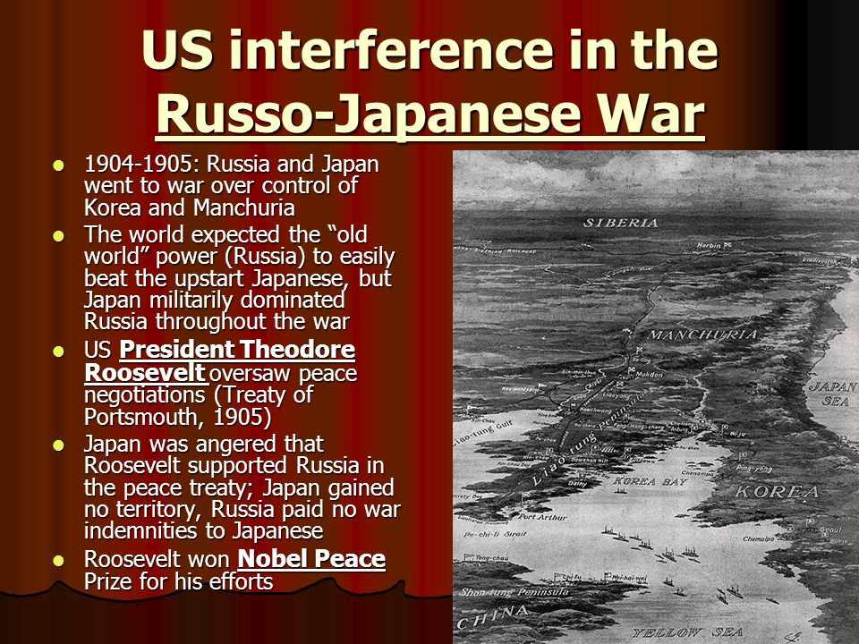 US interference in the Russo-Japanese War