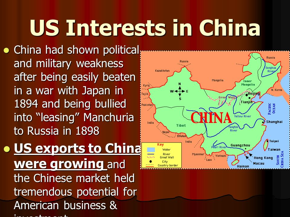 US Interests in China