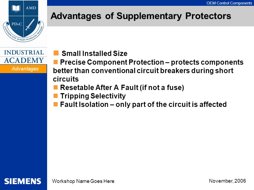 Advantages of Supplementary Protectors