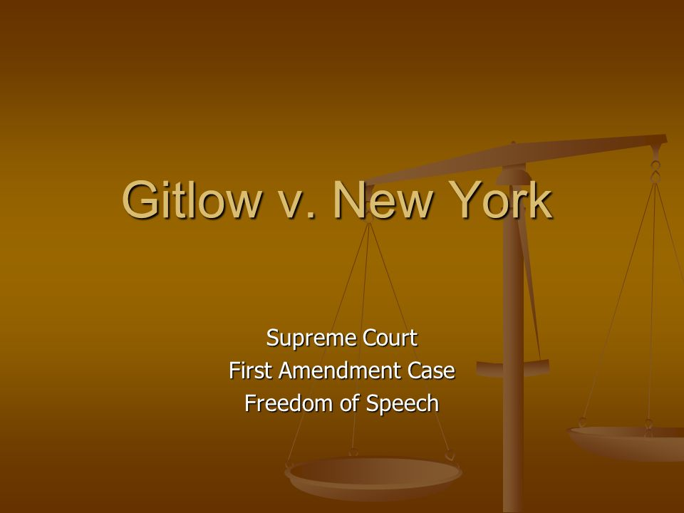 Supreme Court First Amendment Case Freedom of Speech