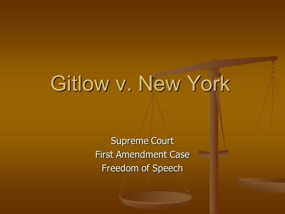 Supreme Court First Amendment Case Freedom of Speech