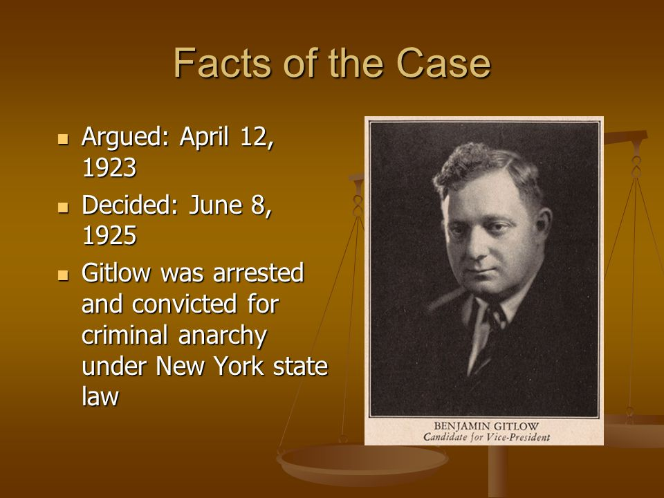 Facts of the Case Argued: April 12, 1923 Decided: June 8, 1925