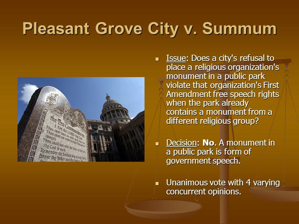 Pleasant Grove City v. Summum