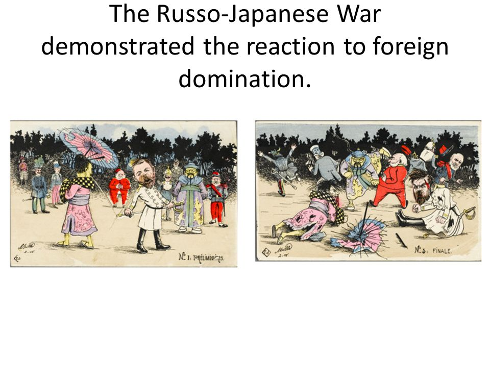 The Russo-Japanese War demonstrated the reaction to foreign domination.
