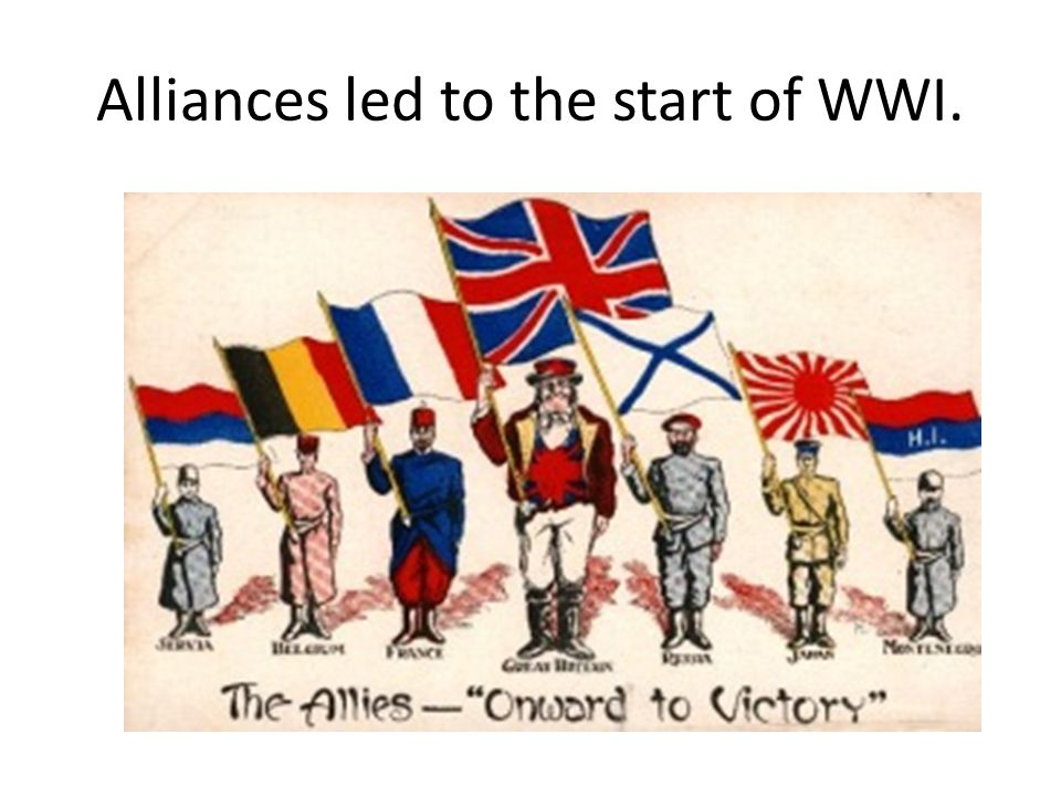 Alliances led to the start of WWI.
