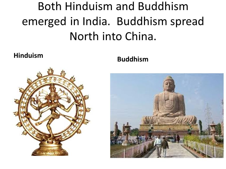 Both Hinduism and Buddhism emerged in India