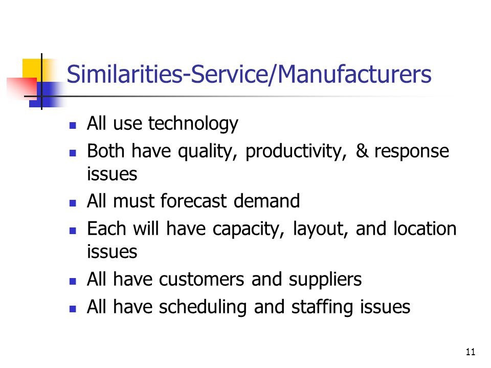 Similarities-Service/Manufacturers