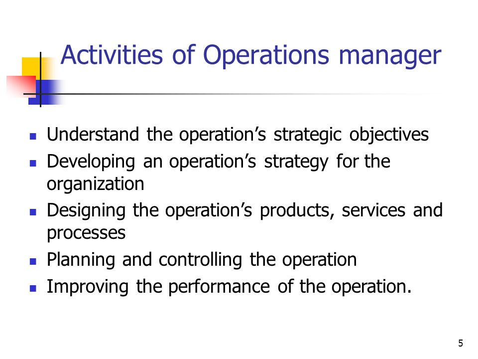 five key performance objectives of operation management Elements of supply chain management, 32  manage it and (7) the key issues  for today's business operations  bute to the goals of the overall process   must sometimes be adjusted, and performance relative to a budget must be   evaluate the options by referring to each of the preceding five ethical principles 4.
