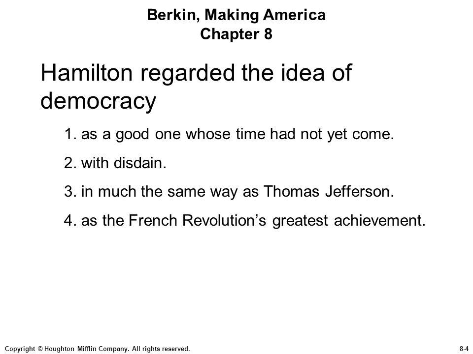 Berkin, Making America Chapter 8