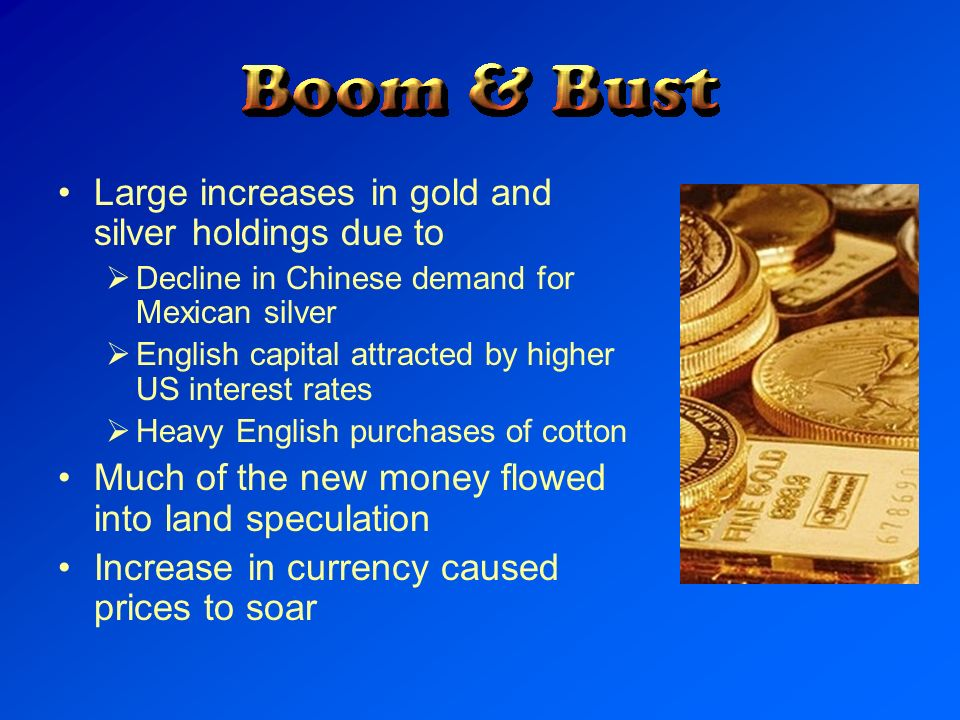 Large increases in gold and silver holdings due to
