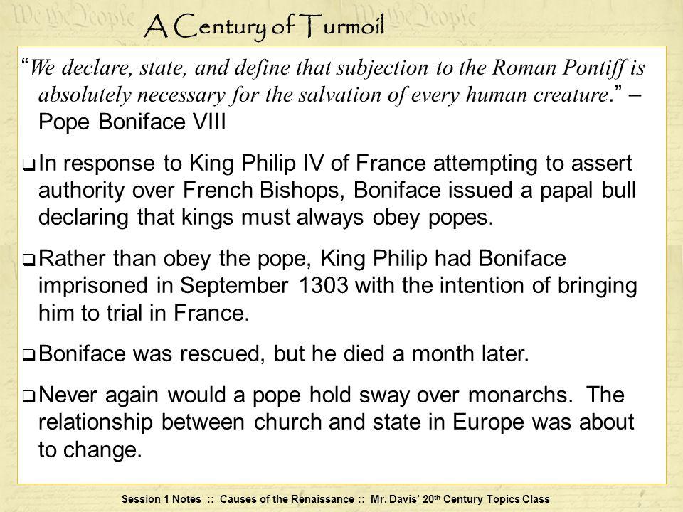 A Century of Turmoil