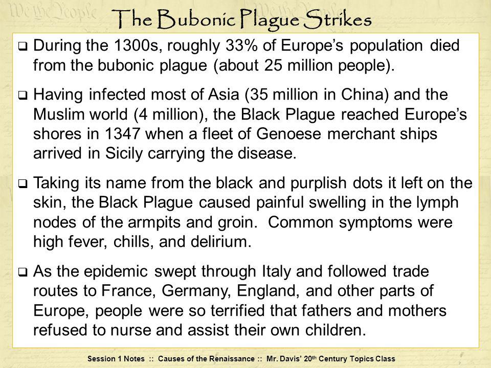 The Bubonic Plague Strikes