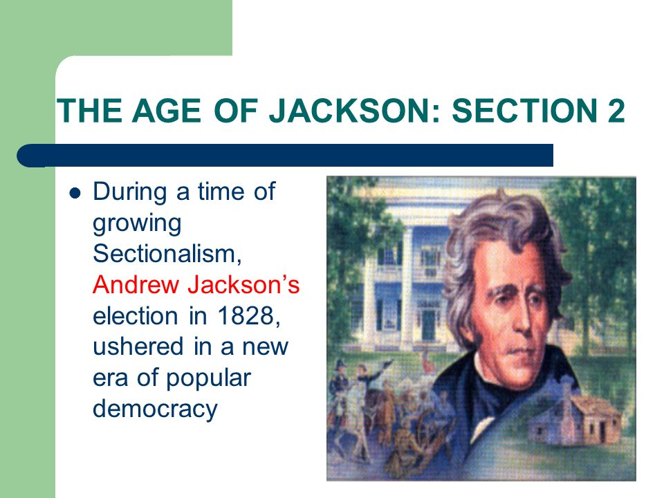 THE AGE OF JACKSON: SECTION 2