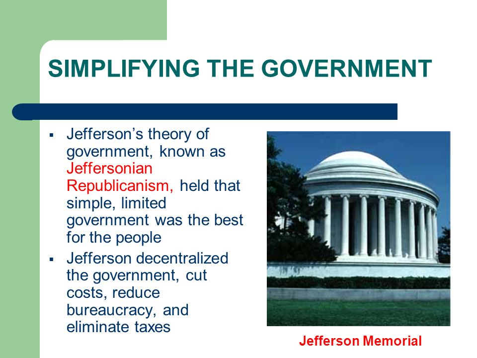 SIMPLIFYING THE GOVERNMENT