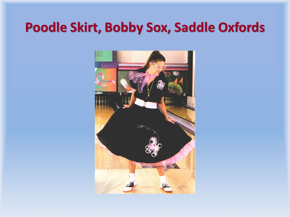 Poodle Skirt, Bobby Sox, Saddle Oxfords