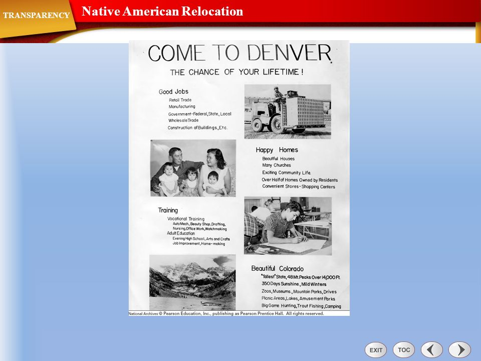 Native American Relocation
