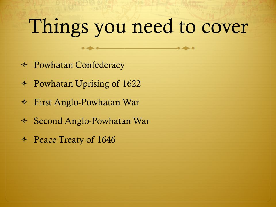 Things you need to cover