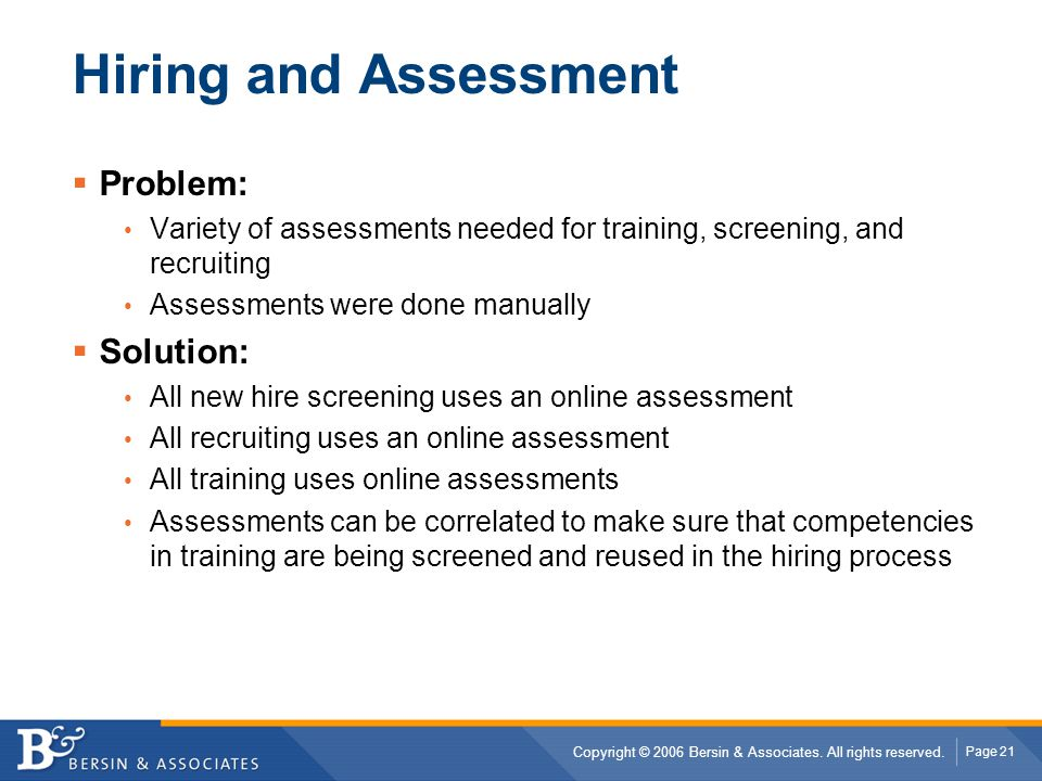 Hiring and Assessment Problem: Solution: