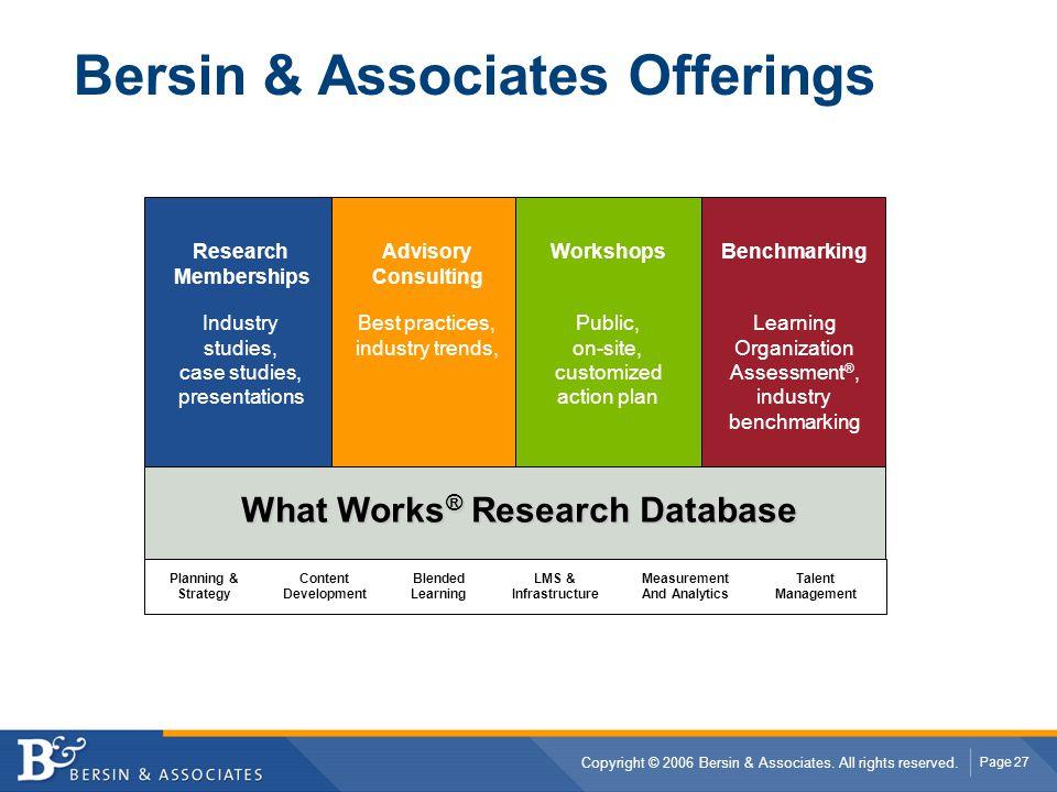Bersin & Associates Offerings