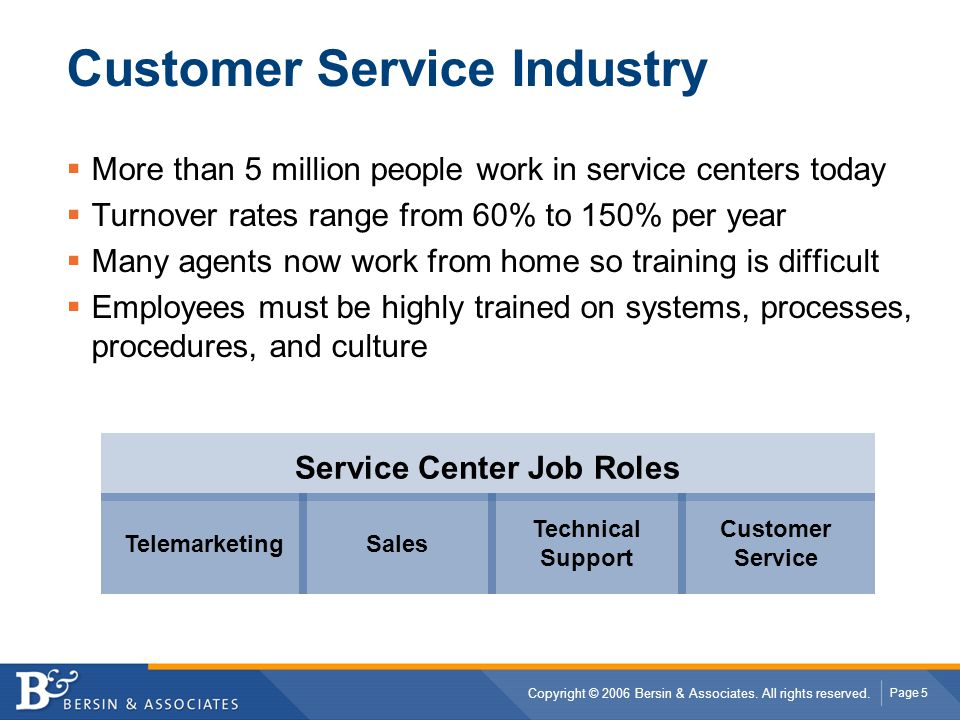Customer Service Industry