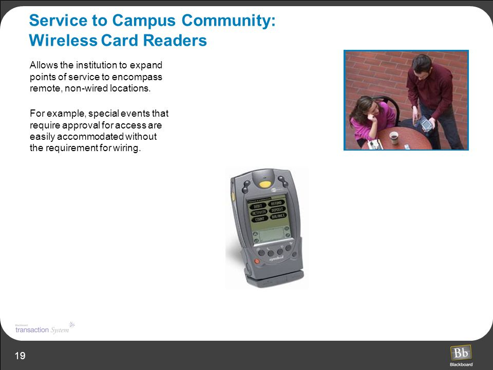 Service to Campus Community: Wireless Card Readers