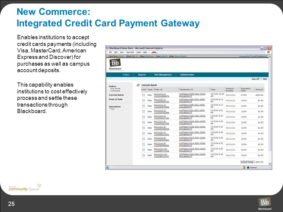 New Commerce: Integrated Credit Card Payment Gateway