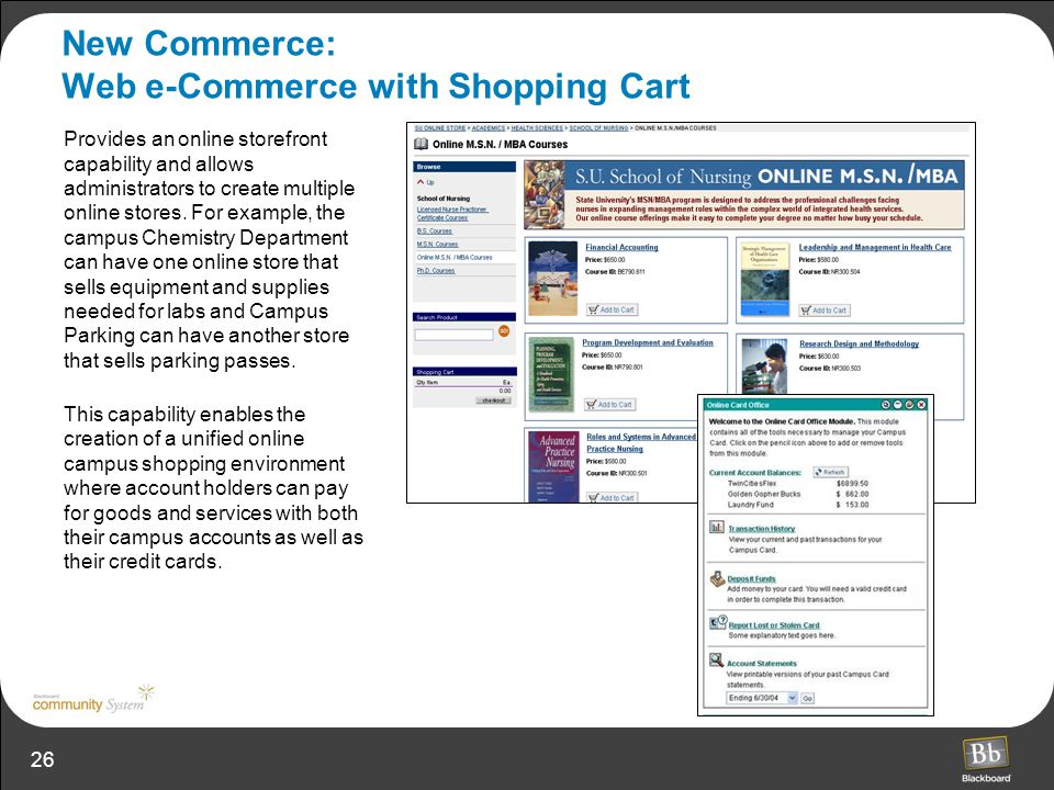New Commerce: Web e-Commerce with Shopping Cart