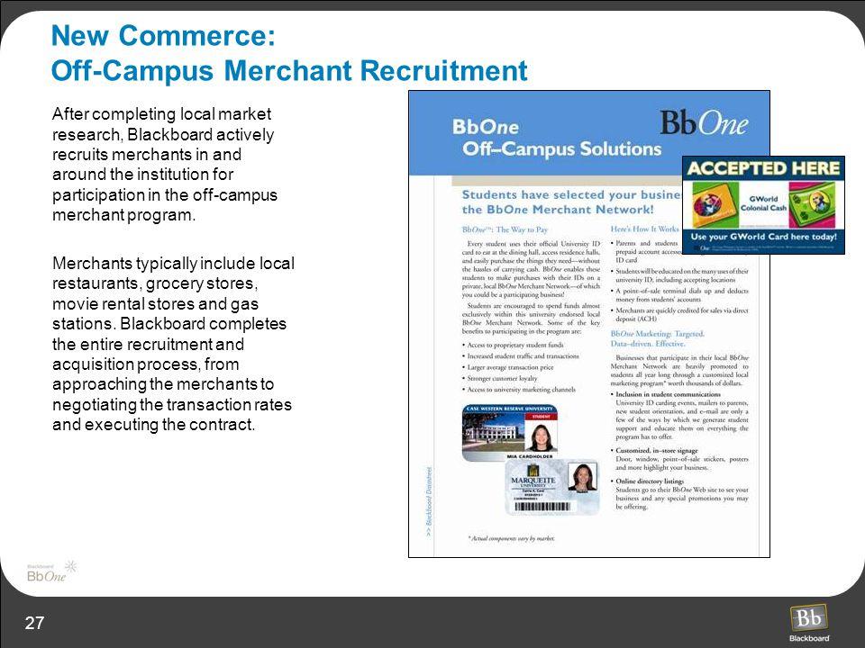 New Commerce: Off-Campus Merchant Recruitment