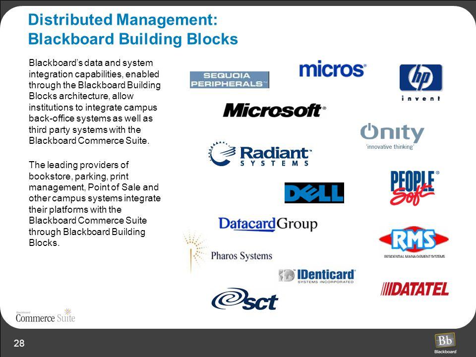 Distributed Management: Blackboard Building Blocks