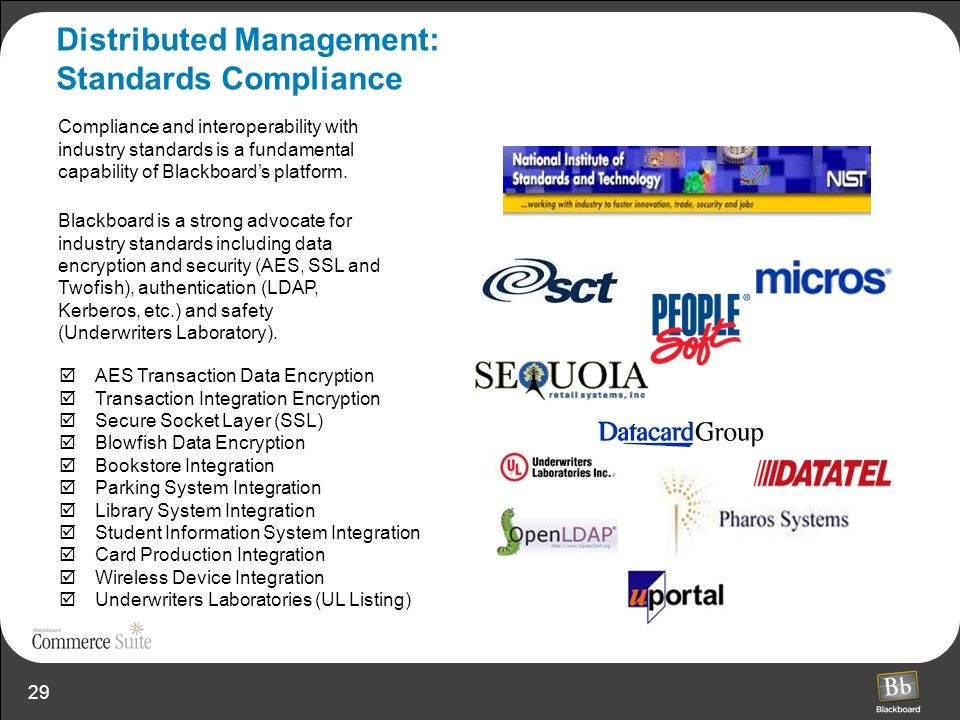 Distributed Management: Standards Compliance
